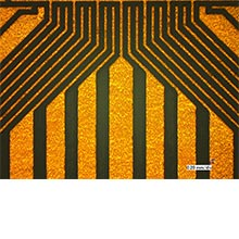 Circuit structuring on FR4 (Circuit traces as small as 50 µm)