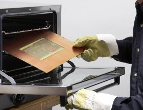 Curing the polymer in a hot-air oven